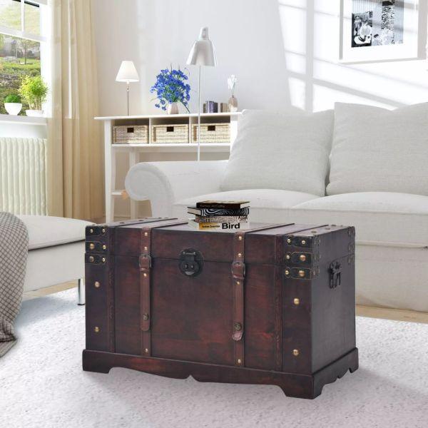 vidaXL Cufăr vintage din lemn, 66 x 38 x 40 cm
