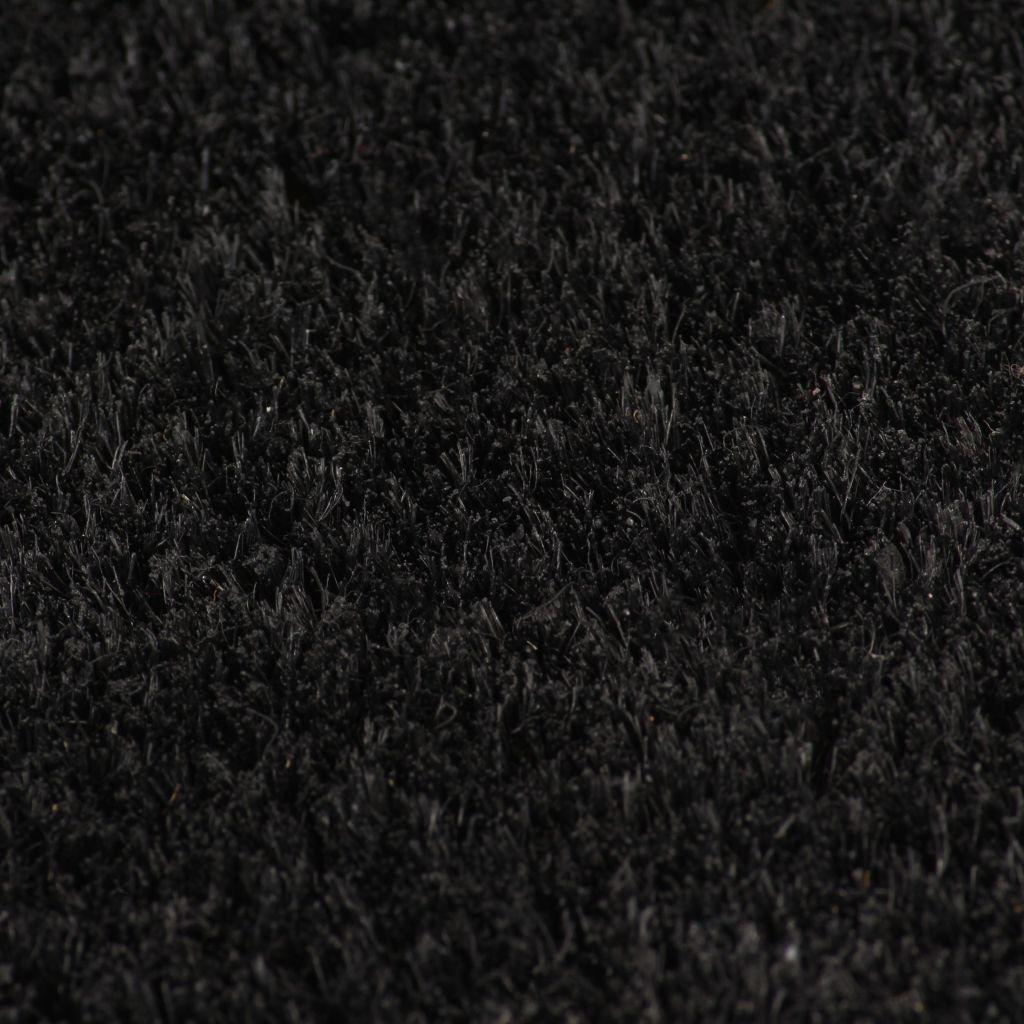 Covoraș de intrare, fibră nucă cocos, 24 mm 100×200 cm Negru