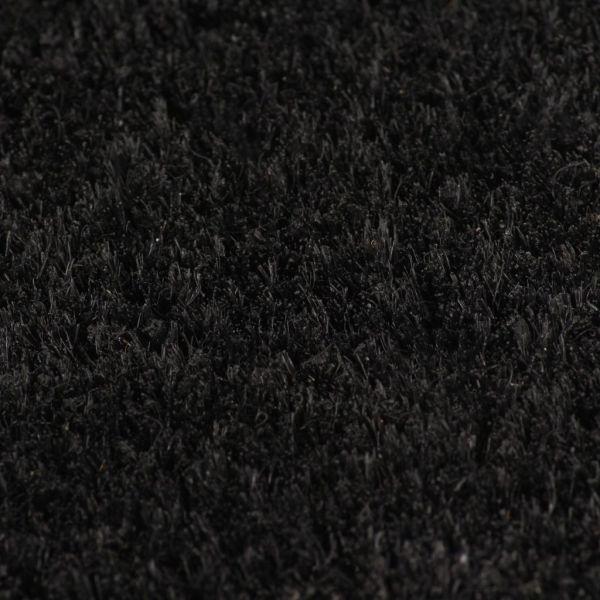 Covor de ușă, fibră de nucă cocos, 24 mm, 100 x 300 cm, negru