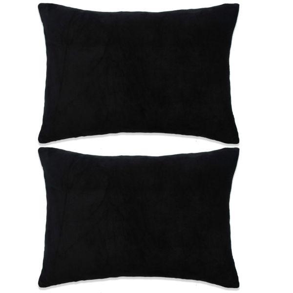 vidaXL Set perne decorative 2 buc, velur 40 x 60 cm, negru