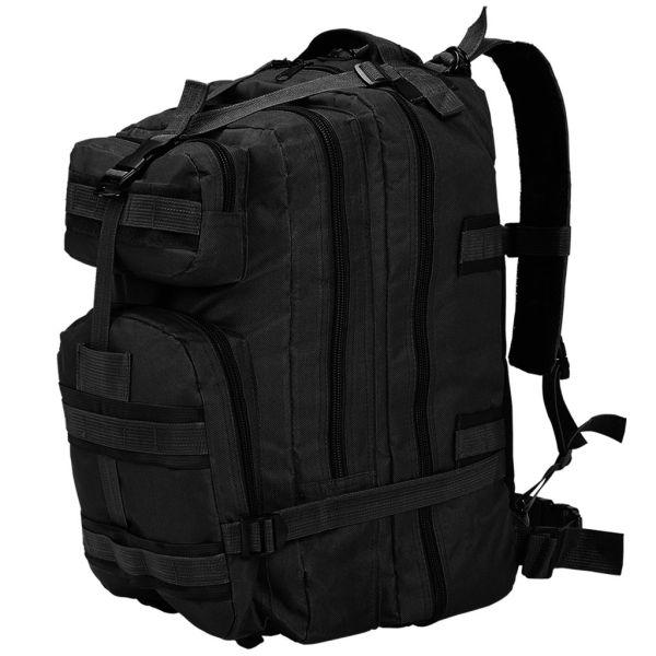 vidaXL Rucsac în stil militar, 50L, negru