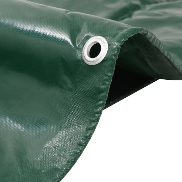 vidaXL Prelată 650 g/m² 3 x 6 m Verde