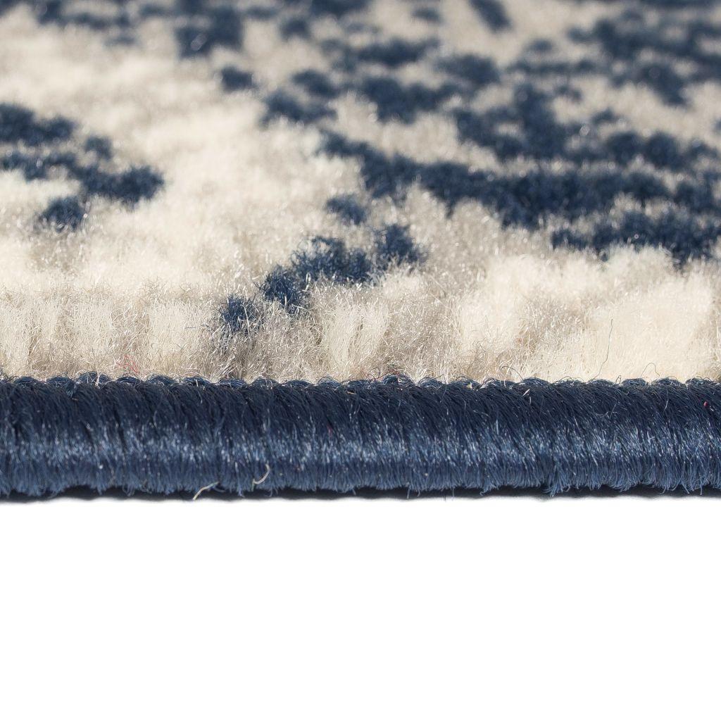 Covor modern, design Paisley, 80 x 150 cm, bej/albastru