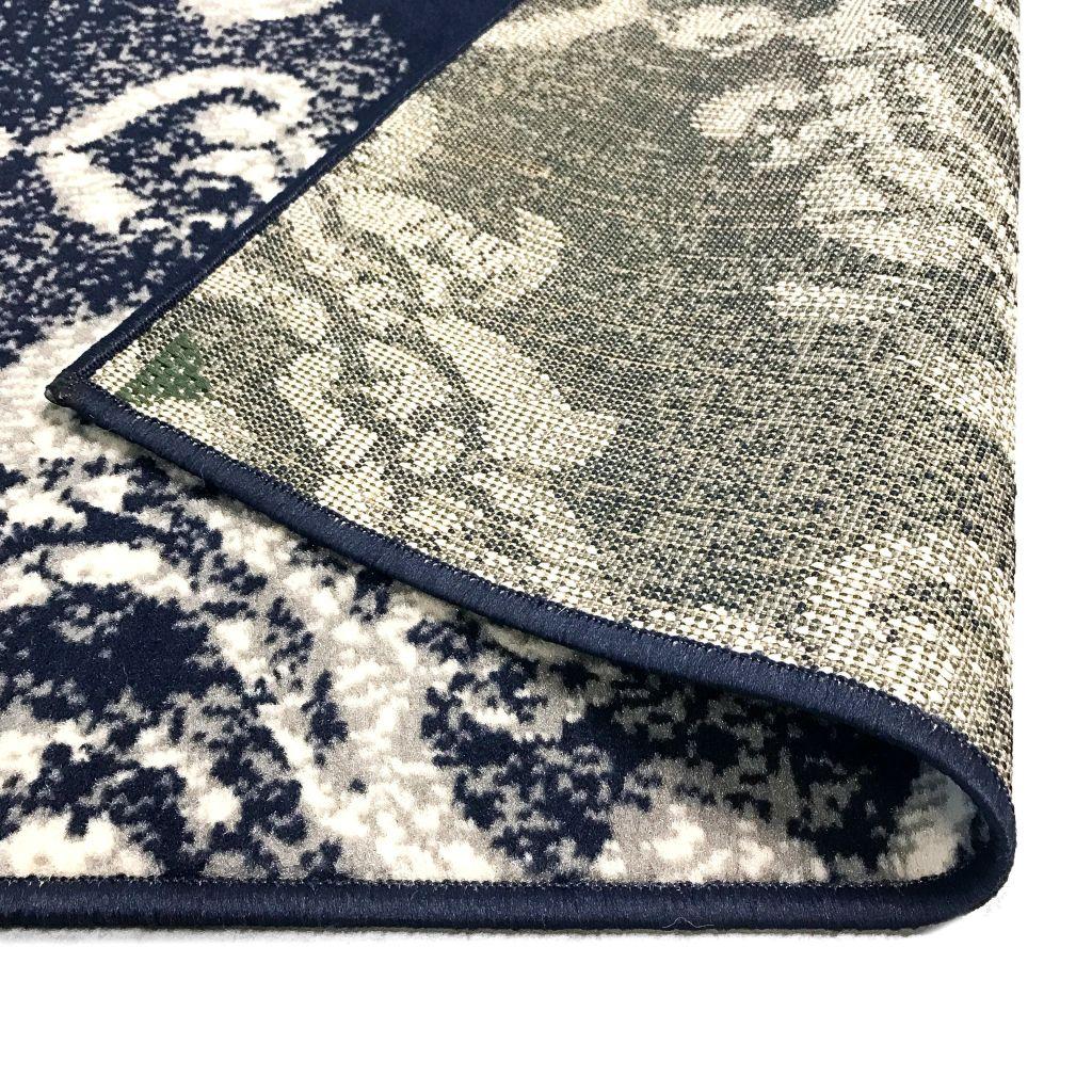 Covor modern design Paisley, 140 x 200 cm, bej/albastru
