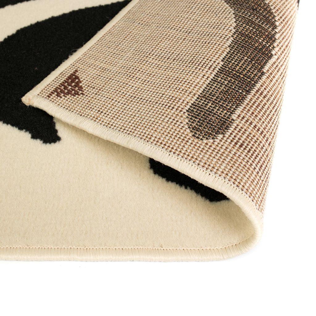 vidaXL Covor modern Design zebră 120 x 170 cm Bej/negru