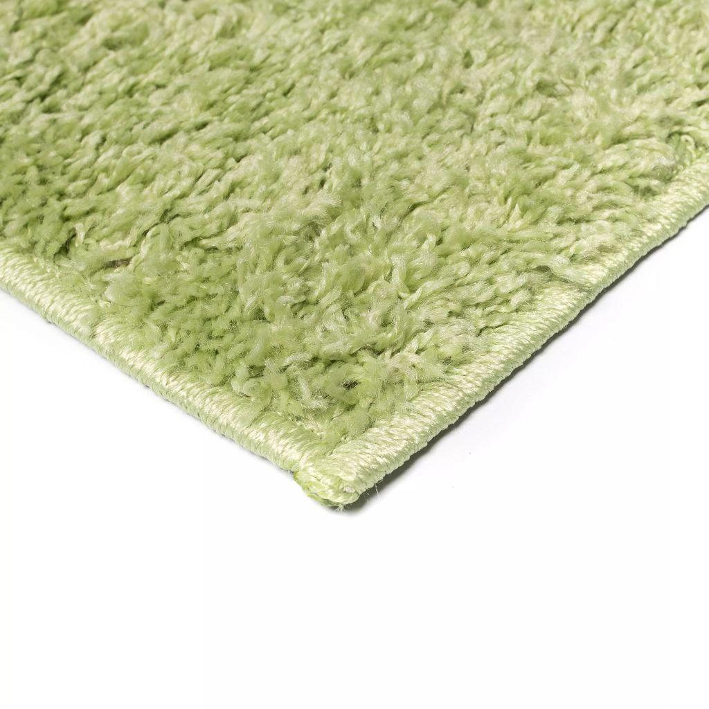 Covor cu fir lung, 80 x 150 cm, verde