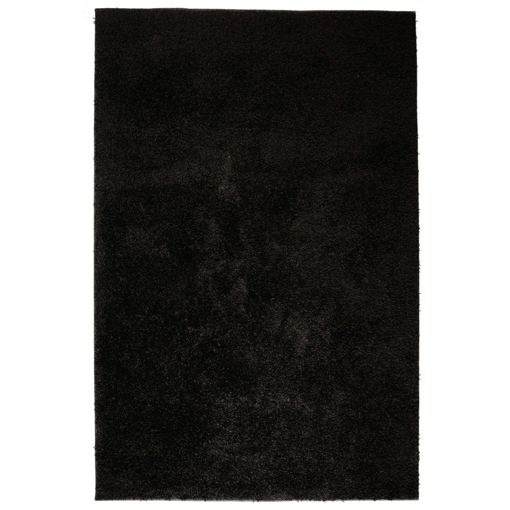 vidaXL Covor cu fir lung 120×170 cm Negru