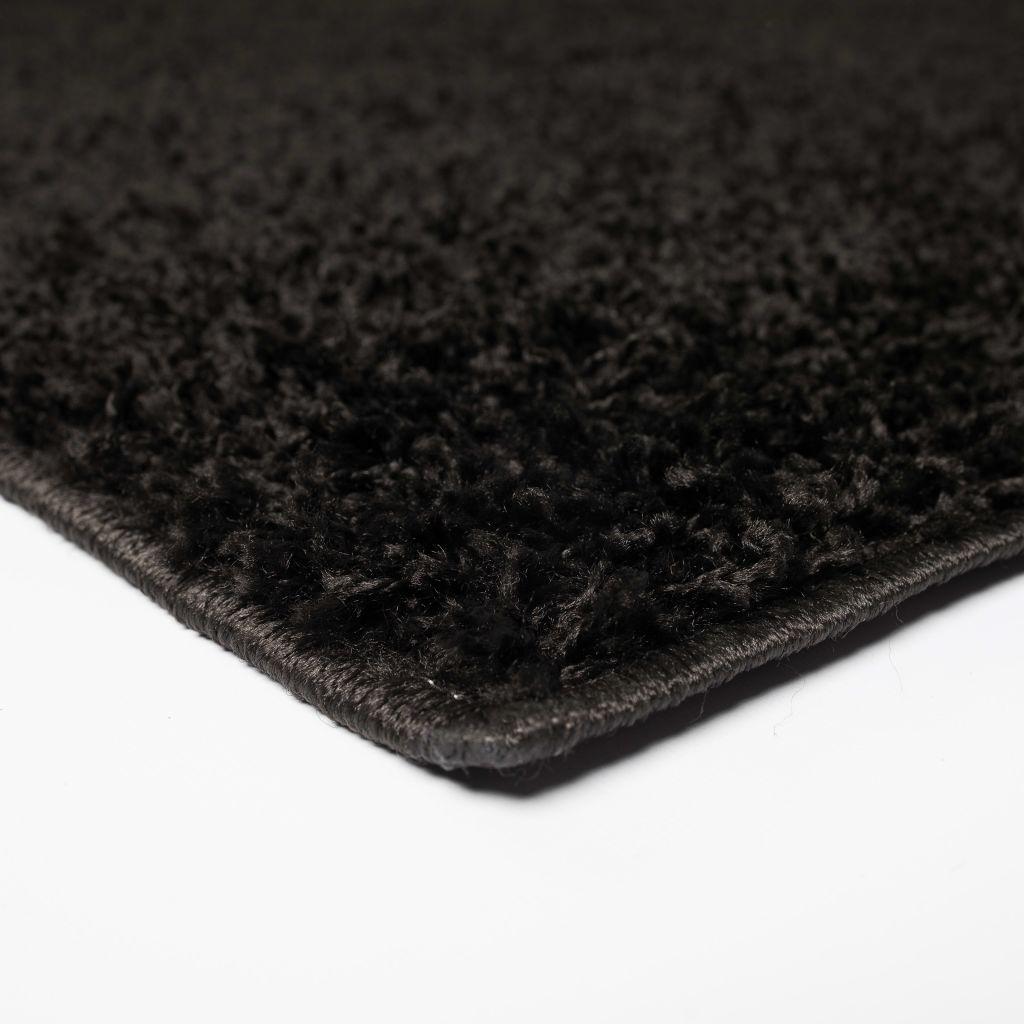 Covor cu fir lung 120×170 cm Negru