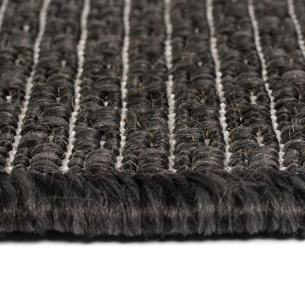 Covor aspect sisal de interior/exterior, 80×150 cm, gri închis