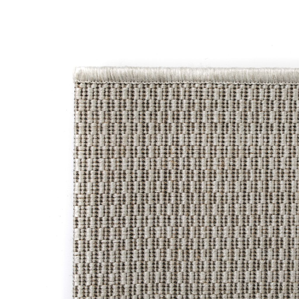 Covor aspect sisal de interior/exterior, 120 x 170 cm, gri