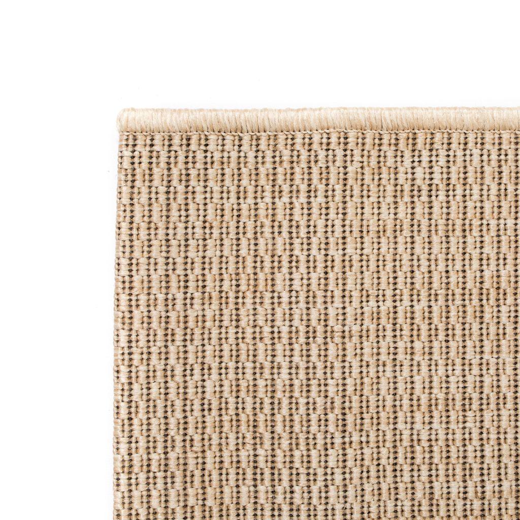 Covor aspect sisal de interior/exterior, 140 x 200 cm, bej