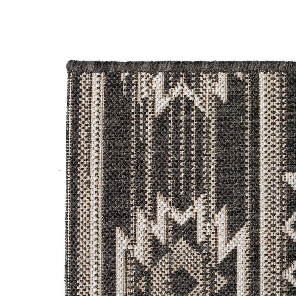 vidaXL Covor aspect sisal de interior/exterior, 120×170 cm, geometric