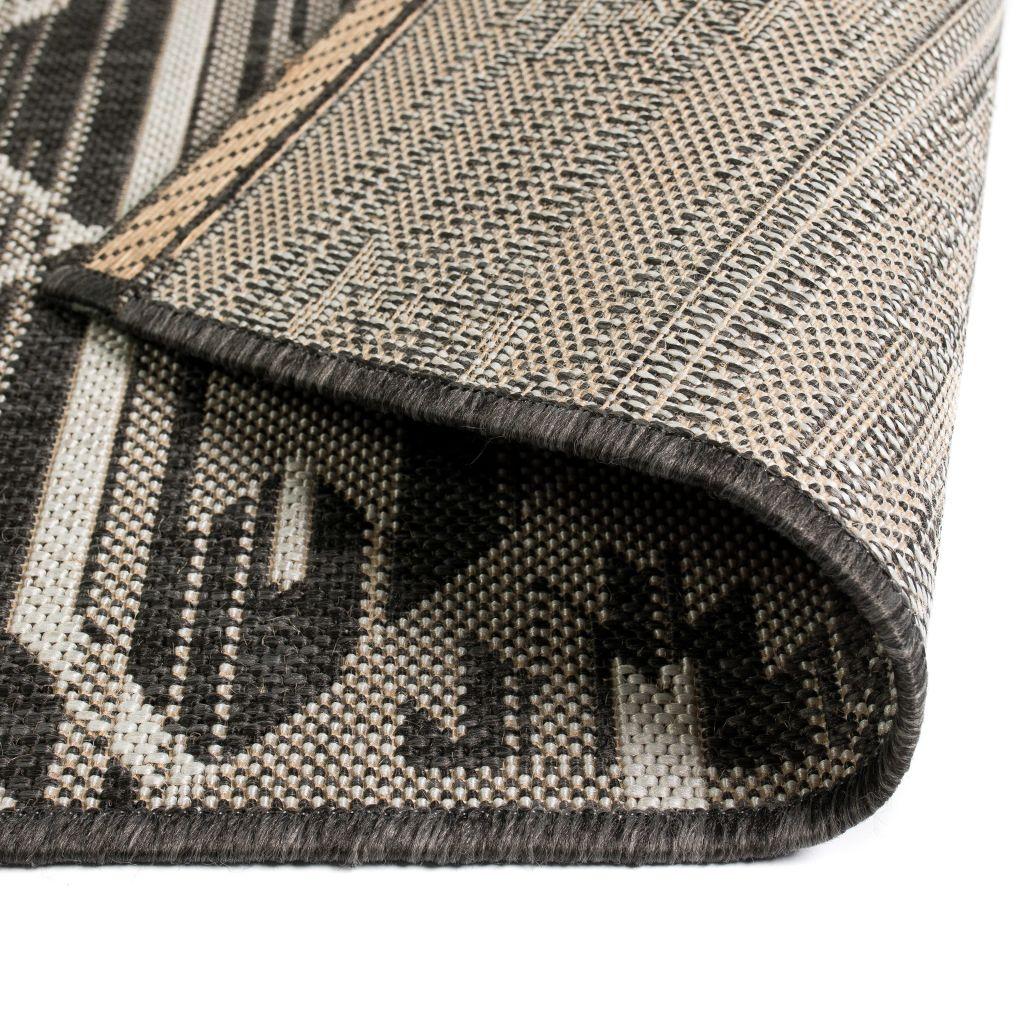Covor aspect sisal de interior/exterior, 160×230 cm, geometric