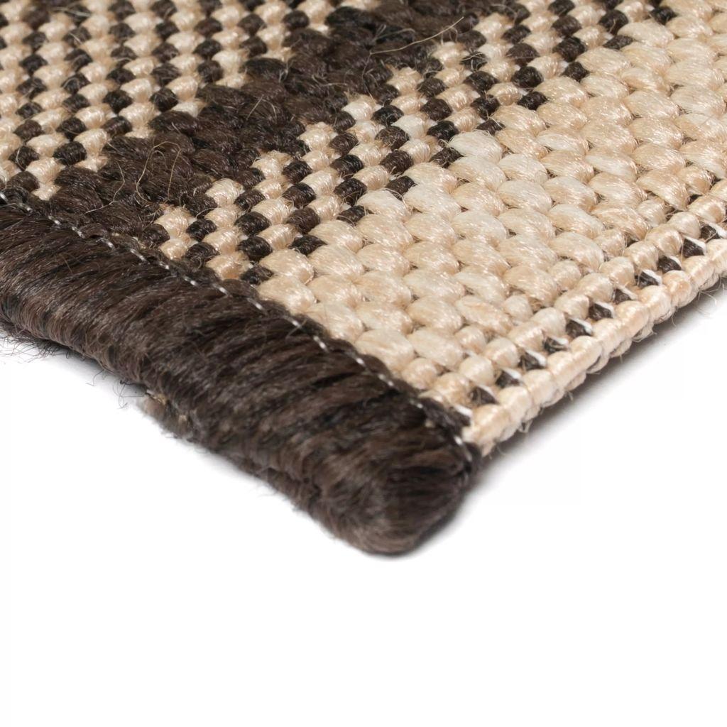 Covor aspect sisal de interior/exterior 80×150 cm design etnic