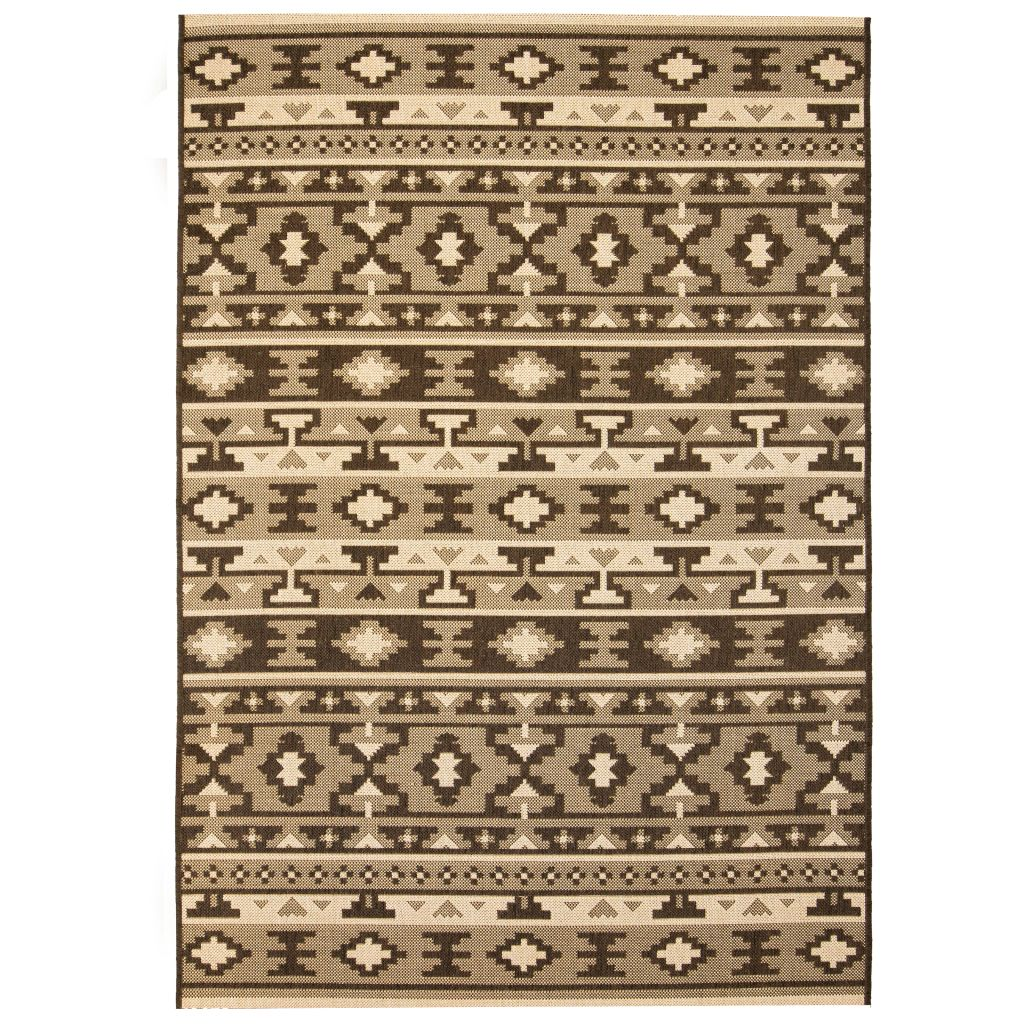 vidaXL Covor aspect sisal de interior/exterior 160×230 cm design etnic