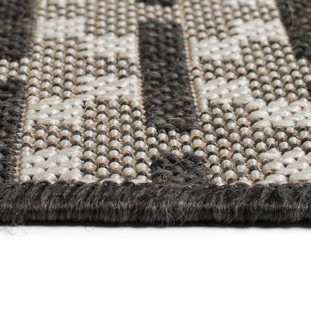 Covor aspect sisal de interior/exterior, 160 x 230 cm, pătrate