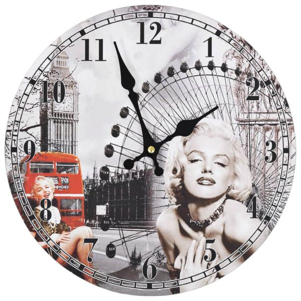vidaXL Ceas de perete vintage Marilyn Monroe, 30 cm