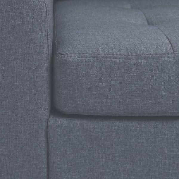 vidaXL Fotoliu cu pernă, gri deschis, oțel și material textil