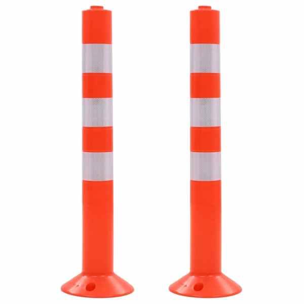 vidaXL Baliză control trafic, 2 buc., plastic, 75 cm