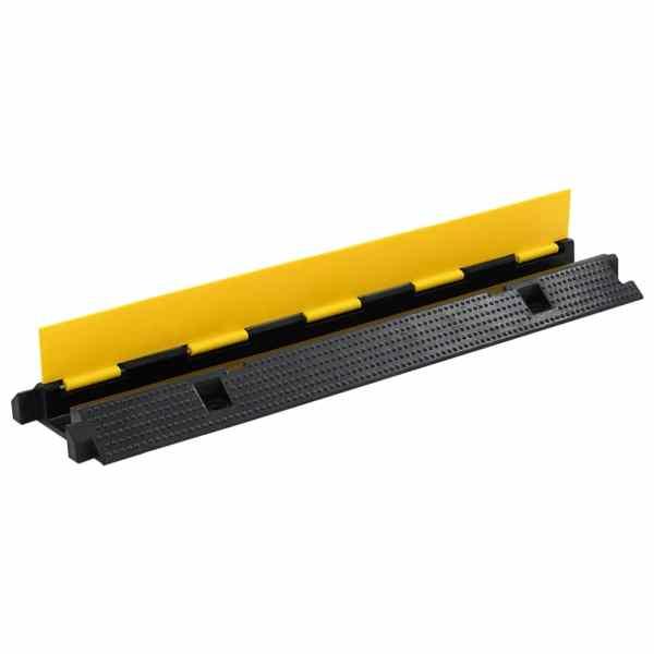 vidaXL Rampă de protecție cabluri, 1 canal, cauciuc 100 cm