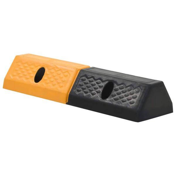 vidaXL Limitatoare parcare, 2 buc., 49x15x9 cm, cauciuc
