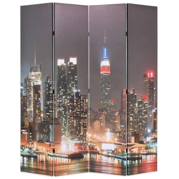vidaXL Paravan cameră pliabil 160 x 170 cm, New York pe timp de noapte