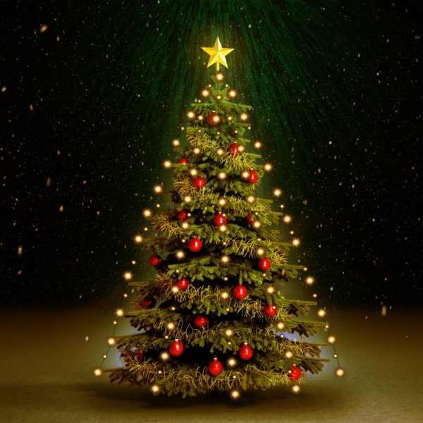 Instalație brad de Crăciun cu 150 LED-uri, 150 cm, IP44