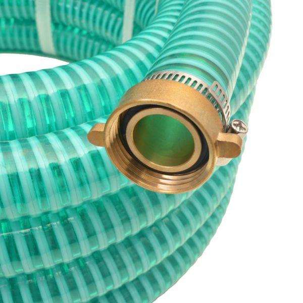 Furtun de aspirație, conectori de alamă, 15 m,  25 mm, verde
