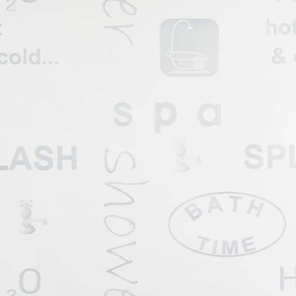 vidaXL Roletă perdea de duș 100×240 cm Imprimeu Splash