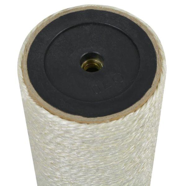 vidaXL Ansamblu de joacă pentru pisici 8×20 cm, 10 mm Bej