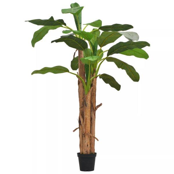 vidaXL Bananier artificial cu ghiveci, 250 cm, verde