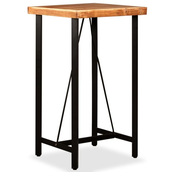 Set de bar, 3 piese, lemn masiv de acacia și lemn reciclat