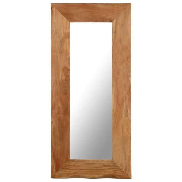 vidaXL Oglindă cosmetică, 50 x 110 cm, lemn masiv de acacia