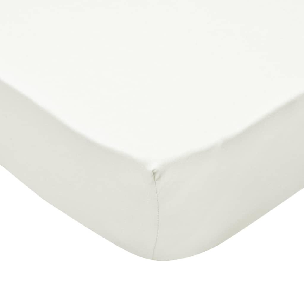 vidaXL Husă de pat cu apă 2 buc., 1,8 x 2 m, bumbac jerseu, ivoriu