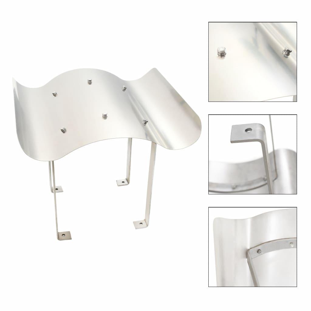 vidaXL Apărătoare de horn, oțel inoxidabil, argintiu