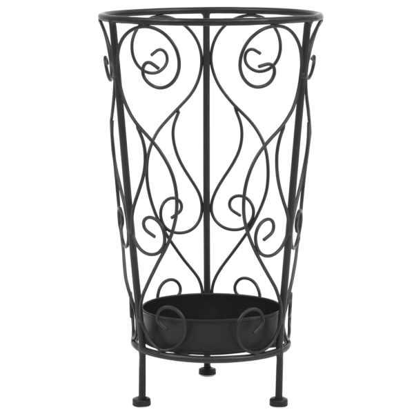 vidaXL Suport pentru umbrelă, stil vintage, metal, 26×46 cm, negru