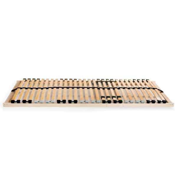 Bază de pat cu șipci, 28 șipci, 7 zone, 80 x 200 cm