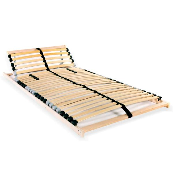 vidaXL Bază de pat cu șipci, 28 șipci, 7 zone, 90 x 200 cm