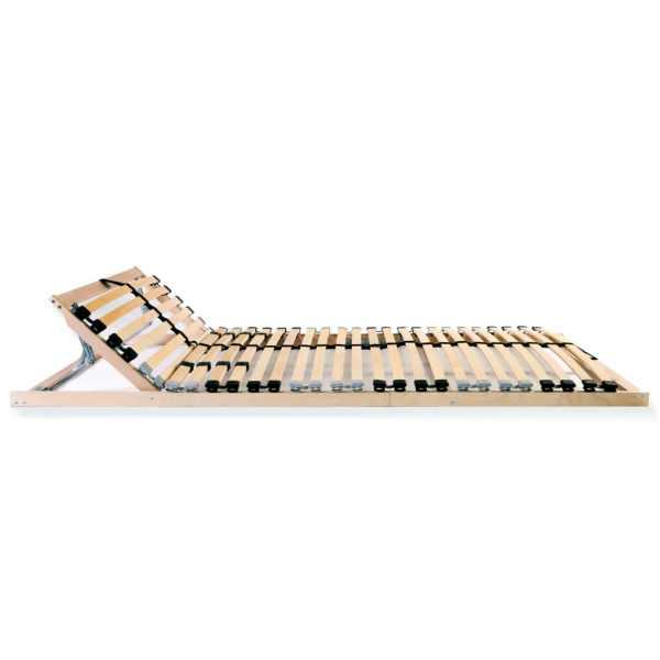 Bază de pat cu șipci, 28 șipci, 7 zone, 90 x 200 cm