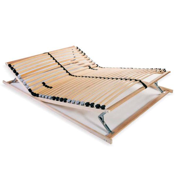 vidaXL Bază de pat cu șipci, 28 șipci, 7 zone, 100 x 200 cm