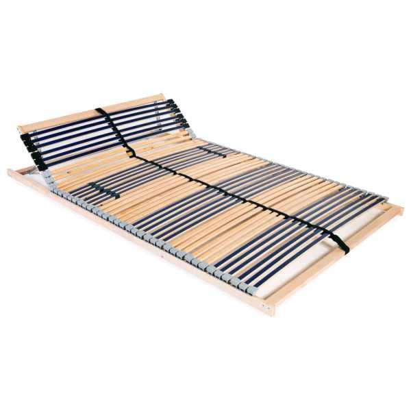 vidaXL Bază de pat cu șipci, 42 șipci, 7 zone, 100 x 200 cm