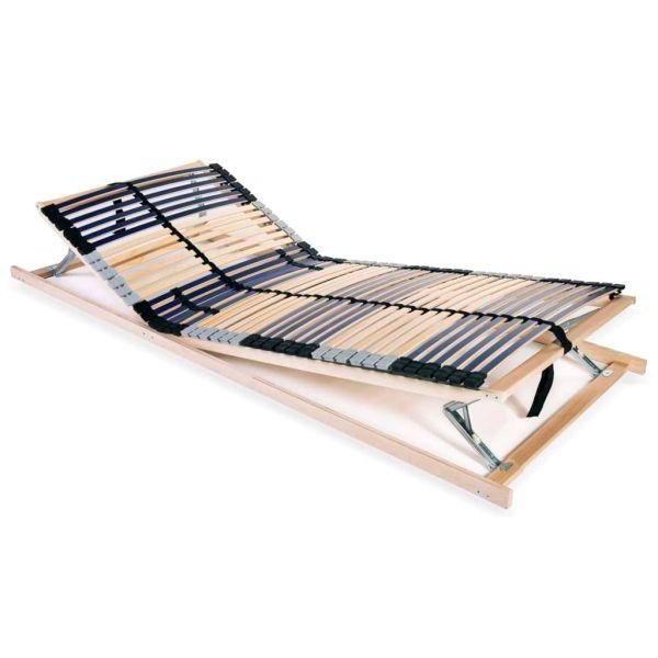 vidaXL Bază de pat cu șipci, 42 șipci, 7 zone, 80 x 200 cm