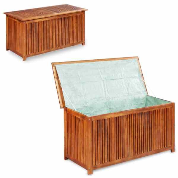 vidaXL Ladă de depozitare grădină, 117x50x58 cm, lemn masiv de acacia