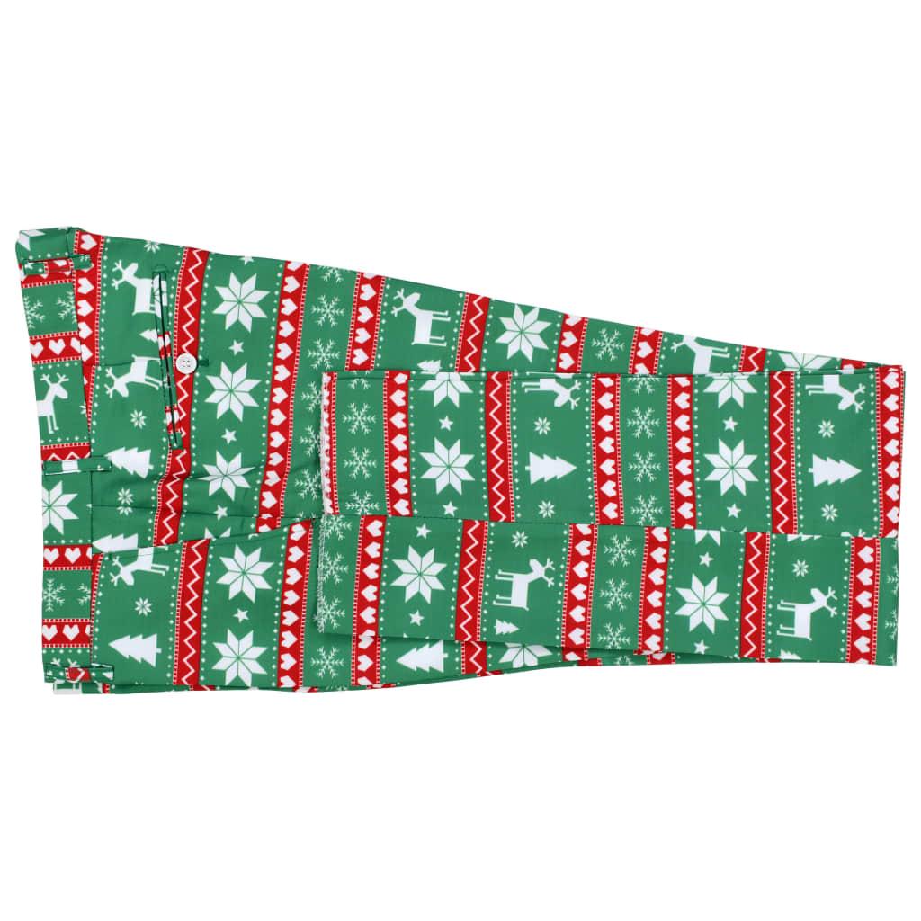 Costum bărbătesc Crăciun, 2 piese, cravată, verde, mărimea 46