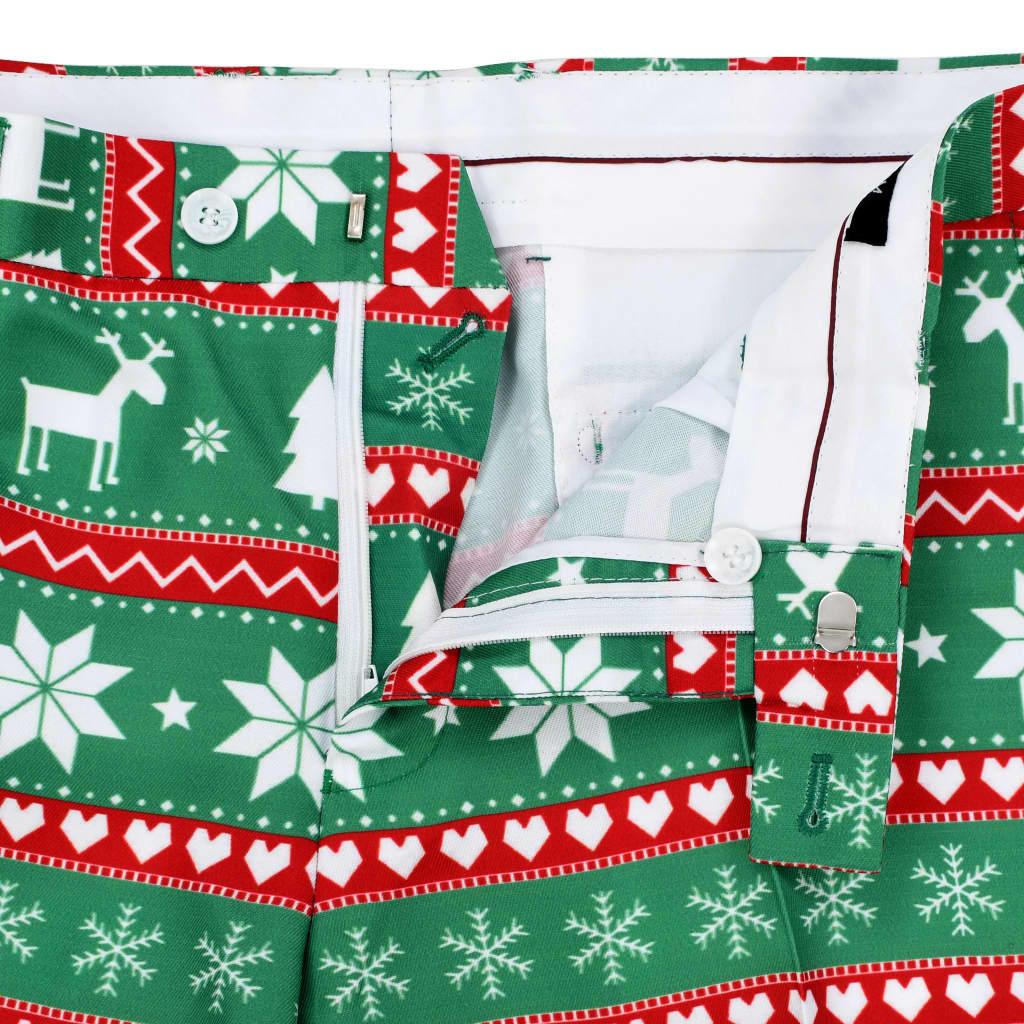 Costum bărbătesc Crăciun, 2 piese, cravată, verde, mărimea 48