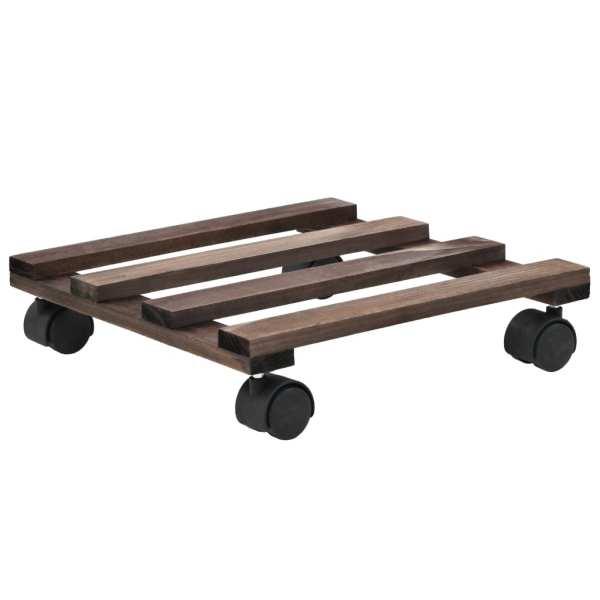 vidaXL Suport cu role pentru plante, 4 buc., 25×25 cm, lemn de cedru