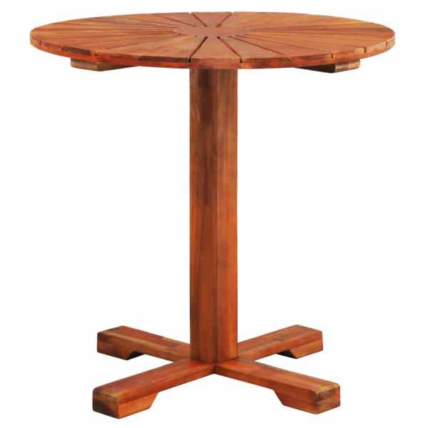 vidaXL Masă de bistro, 70 x 70 cm, lemn masiv de acacia