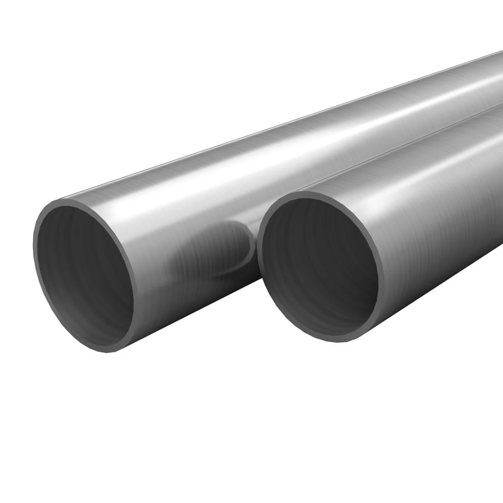 vidaXL Tuburi din oțel inoxidabil 2 buc. Ø40×1,8mm rotund V2A 1m