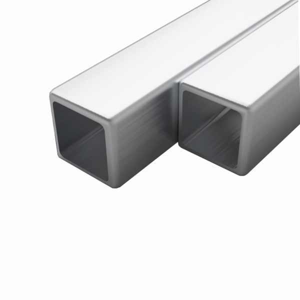 vidaXL Tuburi din oțel inoxidabil, 2 buc. 30x30x1,9 mm pătrat V2A, 2 m