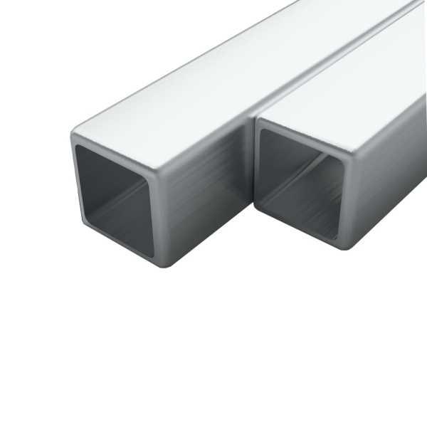 vidaXL Tuburi din oțel inoxidabil, 2 buc. 40x40x1,9 mm pătrat V2A, 1 m